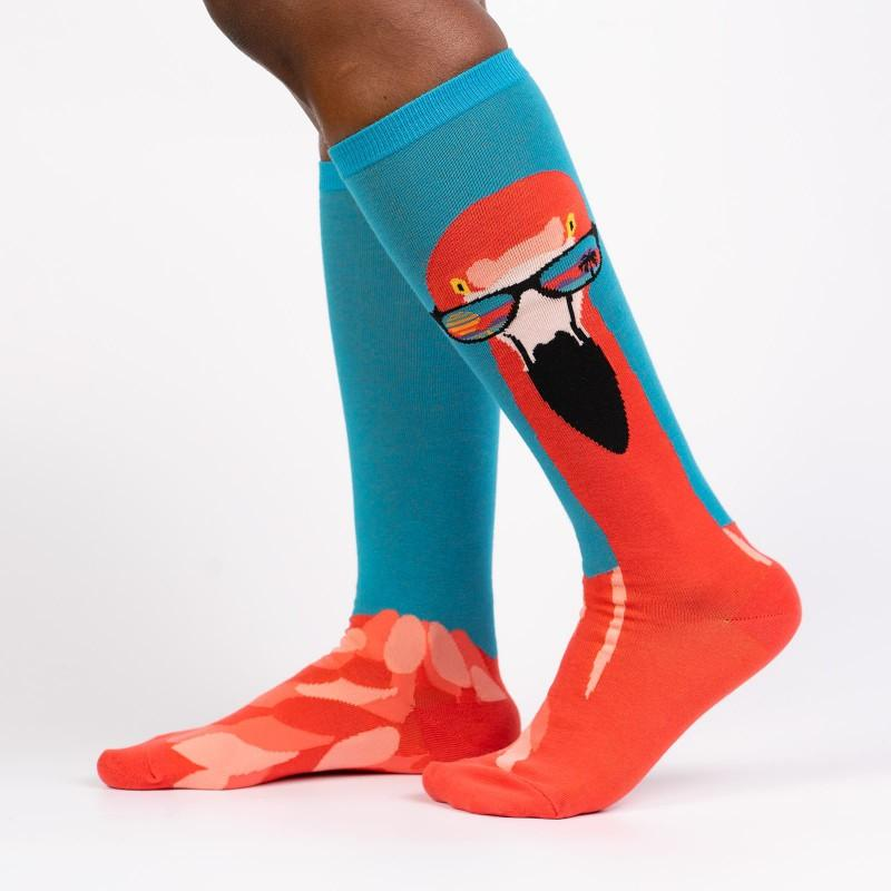 Ready to Flamingle - Women's Knee Length Socks