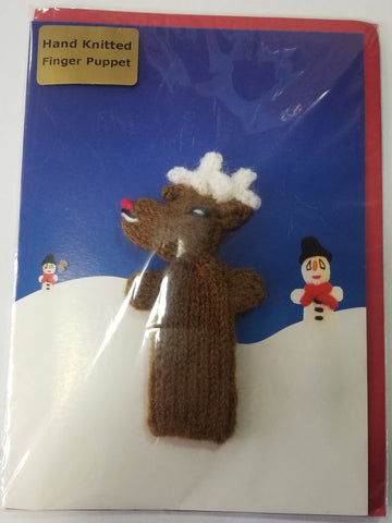 Card - Reindeer Finger Puppet - Little Fingy