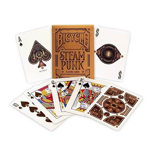 Steampunk Playing Cards - Gold - Bicycle Brand