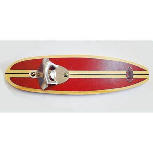 Surfboard Bottle Opener - Red