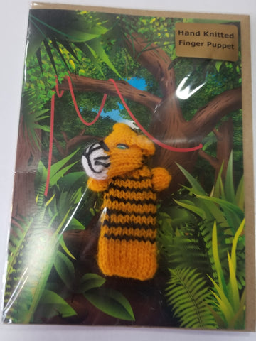 Card - Tiger Finger Puppet - Little Fingy