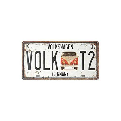 VW Number plate - Tin Sign