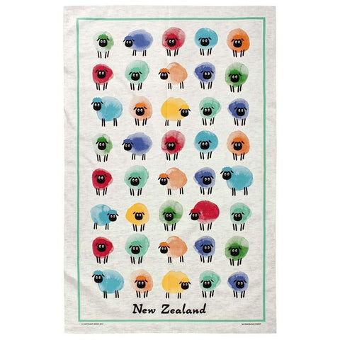 Watercolour Sheep Tea Towel