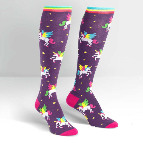 Winging It - Women's Knee Length Socks