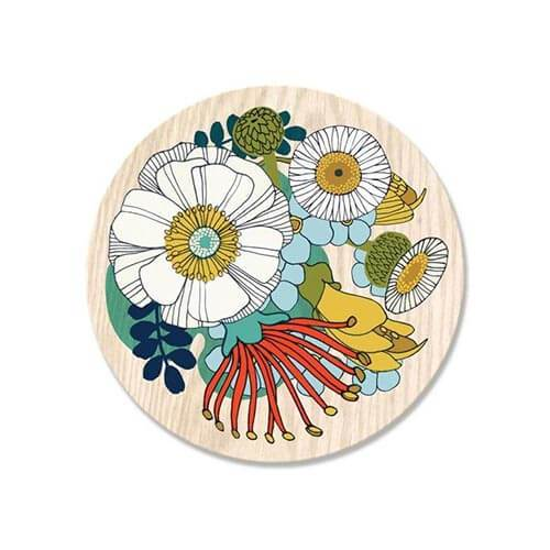 Wolfkamp & Stone Single Coaster - Folk Flowers