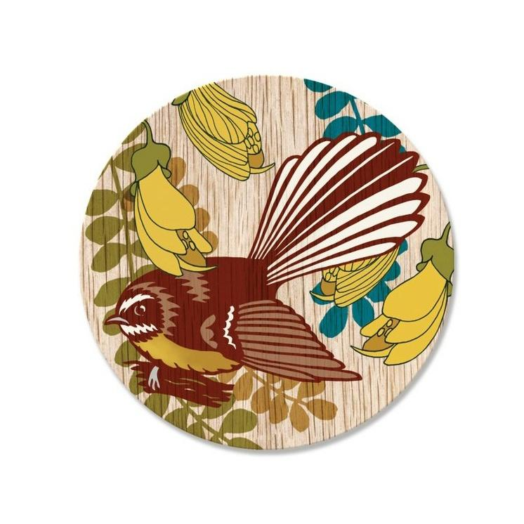 Wolfkamp & Stone Single Coaster - Screenprint Fantail