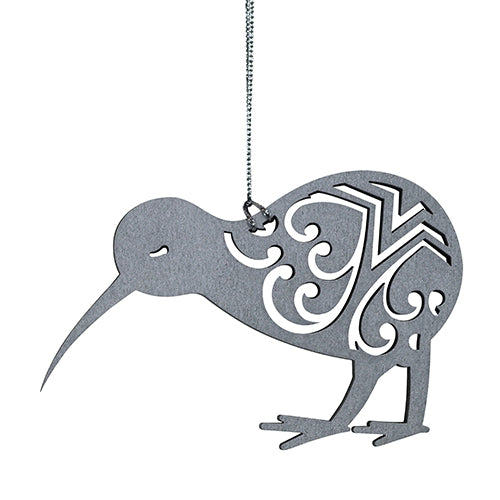 Hanging Decoration - 2D - Kiwi - Silver