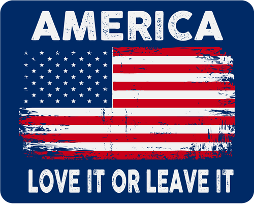 America (Love It): Car Magnet / Fridge Magnet (Navy)
