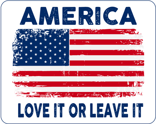 America (Love It): Car Magnet / Fridge Magnet (White)