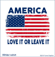Load image into Gallery viewer, America (Love It) T-shirt:  White
