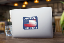 Load image into Gallery viewer, America (Love It): Decal / Sticker (Navy)