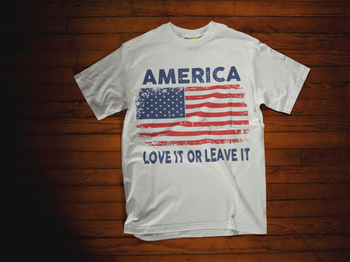 America (Love It) T-shirt:  White