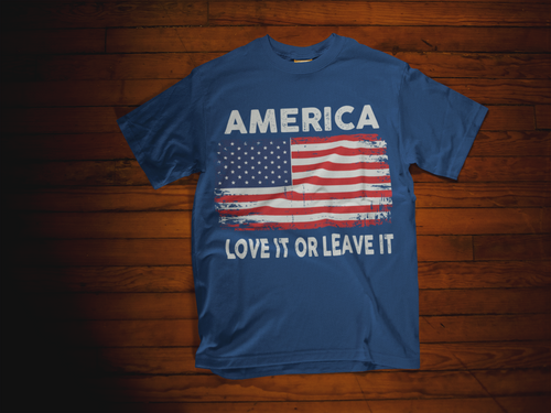 America (Love It) T-shirt:  Navy