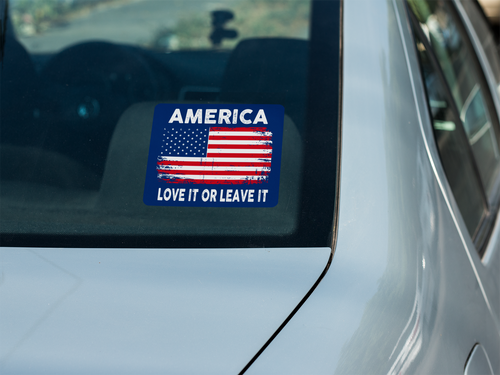 America (Love It): Decal / Sticker (Navy)