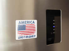 Load image into Gallery viewer, America (Love It): Car Magnet / Fridge Magnet (White)