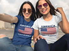 Load image into Gallery viewer, America (Love It) T-shirt:  Navy