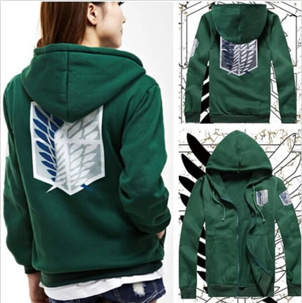 Attack on Titan Hoodie Green/Black Cosplay Shingeki no kyojin-Eastern Light Venture