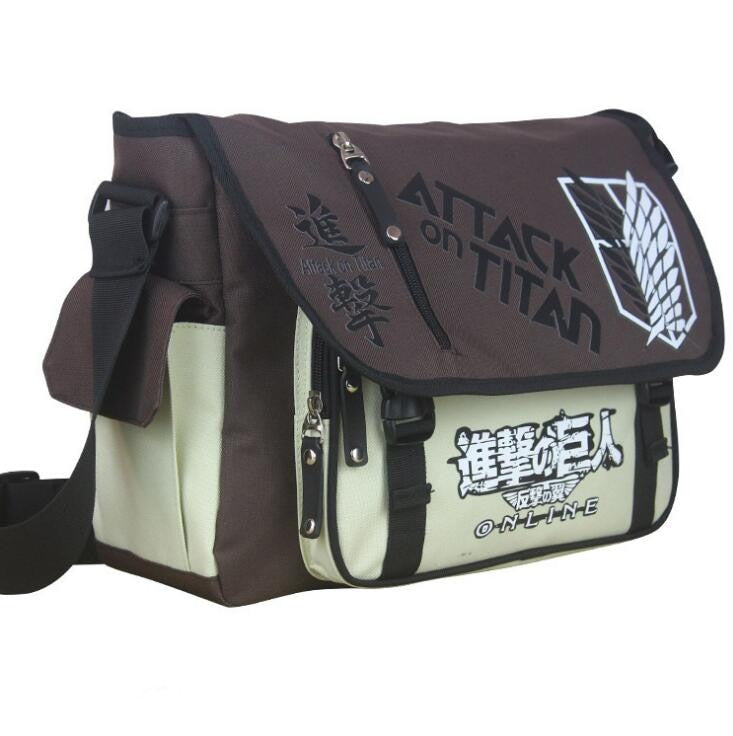Attack on Titan Messenger Bag / Shoulder Bag shingeki no kyojin BROWN-Eastern Light Venture