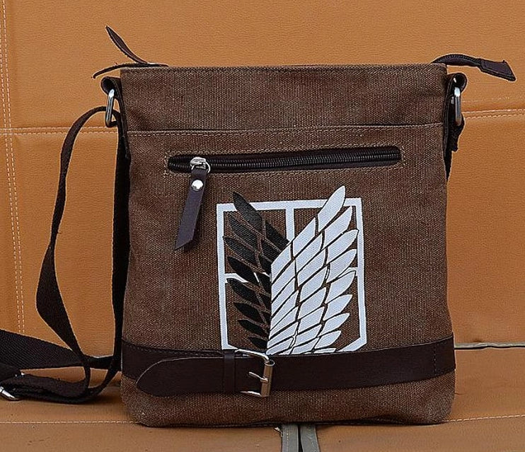 Attack on Titan Messenger Bag Shoulder Bag shingeki no kyojin SC-BROWN-Eastern Light Venture