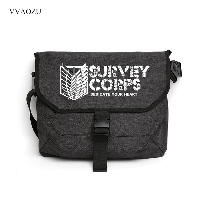 Attack on Titan Messenger Bag / Shoulder Bag shingeki no kyojin SC-BLACK-Eastern Light Venture
