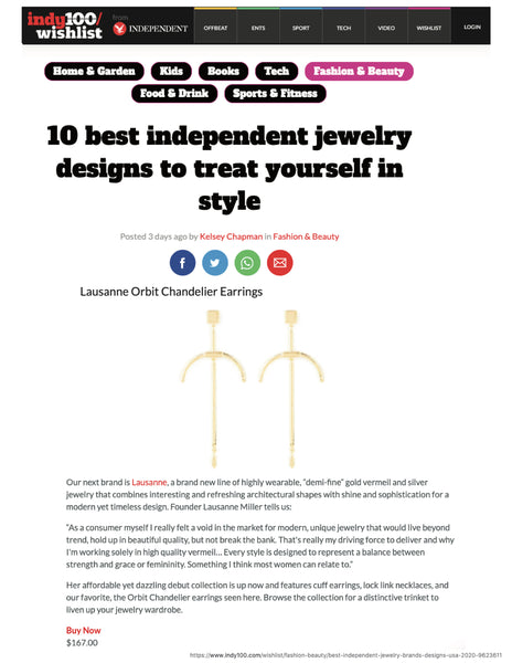 top 10 Independent Jewelry Designs To Treat Yourself with article clipping