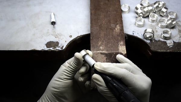 jewelry manufacturing finishing stage from Shop Lausanne modern jewelry