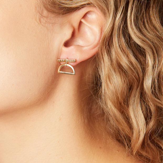 Half Moon Drop Earrings 1