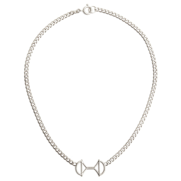 Lock Link Necklace Silver 1
