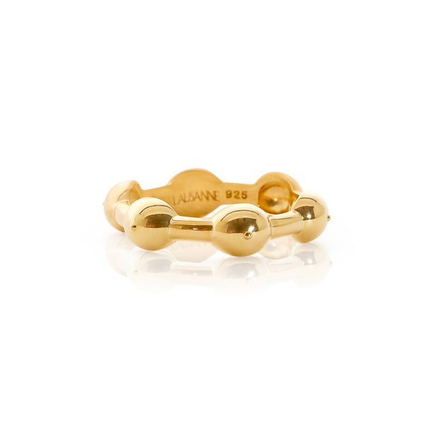 Seeded Eternity Ring Gold 1