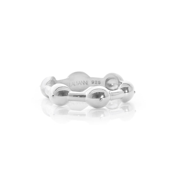 Seeded Eternity Ring Silver 1