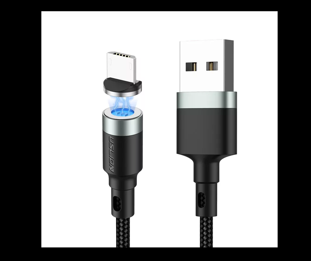 USB cable Fast charging of magnetic rotary magnet USB data charger. [50% OFF]