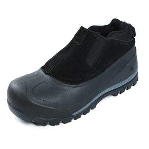 Enjoy boot like features with a shoe like fit. It'll keep you warm and dry/from campsite to riverside.