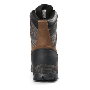 This outdoor adventure boot for men offers fully waterproof seam sealed construction to keep your feet dry; gusseted tongue/padded collar keep debris out.