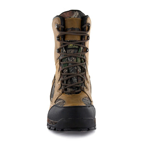 These tall mens insulated hunting boots feature removable/washable insole/compression molded EVA midsole ensure serious cushioning for your feet; premier 800 gram Thinsulate insulation keeps your feet extra toasty