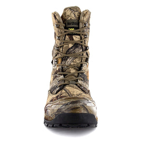 This outdoor adventure men's boot offers fully waterproof seam sealed construction to keep your feet dry; gusseted tongue/padded collar keep debris out. Quick lace up closure allows for easy/secure adjustments; heel pull strap makes it easy to get on/off.