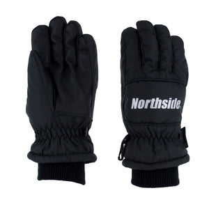 Water resistant nylon upper features PU leather palm grip insert and lightweight fleece lining