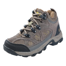 Load image into Gallery viewer, These kid's hikers offer rugged suede ankle high upper features breathable mesh inserts/abrasion resistant toe guard/heel stabilizer; water resistant construction provides all day protection.