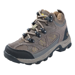 These kid's hikers offer rugged suede ankle high upper features breathable mesh inserts/abrasion resistant toe guard/heel stabilizer; water resistant construction provides all day protection.