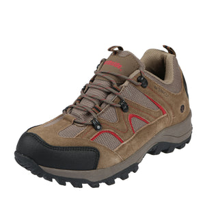 This all weather outdoor low hiker offers waterproof seam sealed construction/moisture wicking lining to keep feet dry/gusseted tongue keeps debris out.