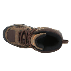 These kid's hiking boots offer removable/washable EVA insole ensures cushioning for your feet; padded collar/tongue provide all day comfort.