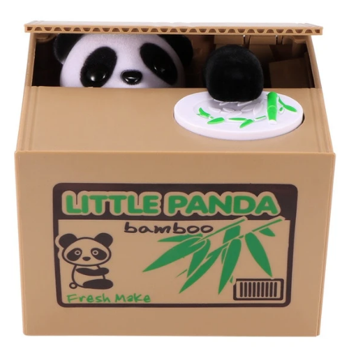 tirelire panda securisee little panda bamboo