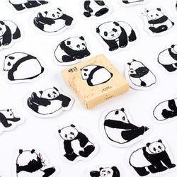 Lot de 40 Stickers Friends Panda