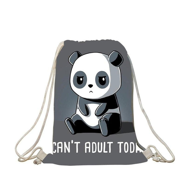 sac petit panda mignon i can't adult today