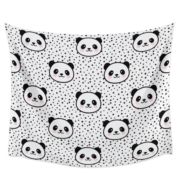 serviettes pandas douces