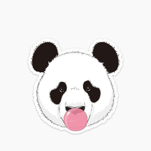 sticker panda chewing gum