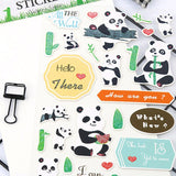 feuille de stickers panda