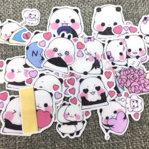 Feuille de Stickers Animaux Panda