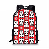 cartable panda rouge fantaisie