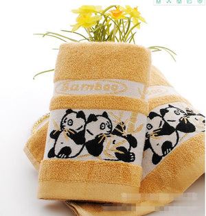 serviette orange panda