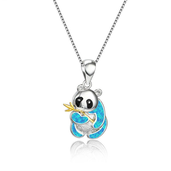 Collier Panda Faux Diamant Brillant